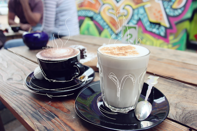Soy chai latte, graffiti walls cafe, cafe Toowoomba