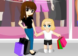 Juego de comprar con mamá