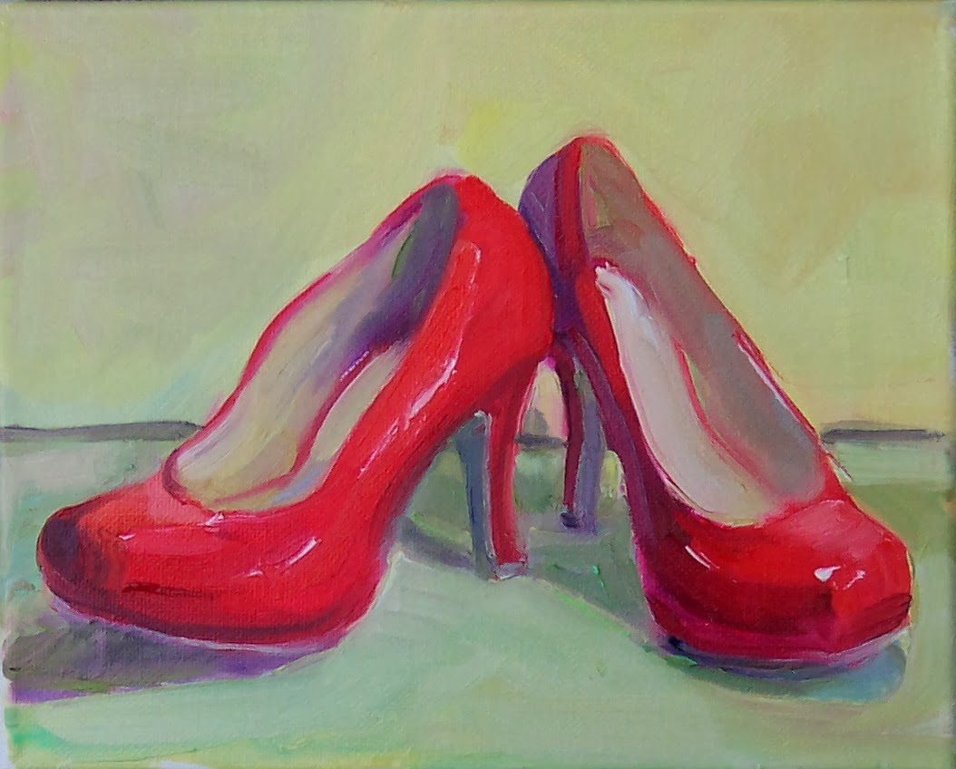 Art Every Day : Good Shoes,still life, oil on canvas,8x10 ...