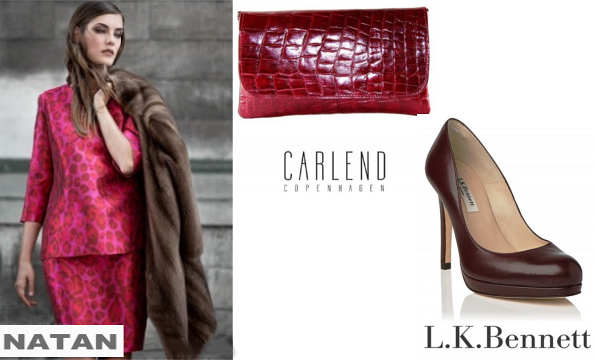 Queen Maxima's NATAN Animal Print Dress, Carlend Copenhagen Clutch Bag And LK Bennett Shoes