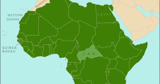 African union reinstates egypt and guinea bissau map political