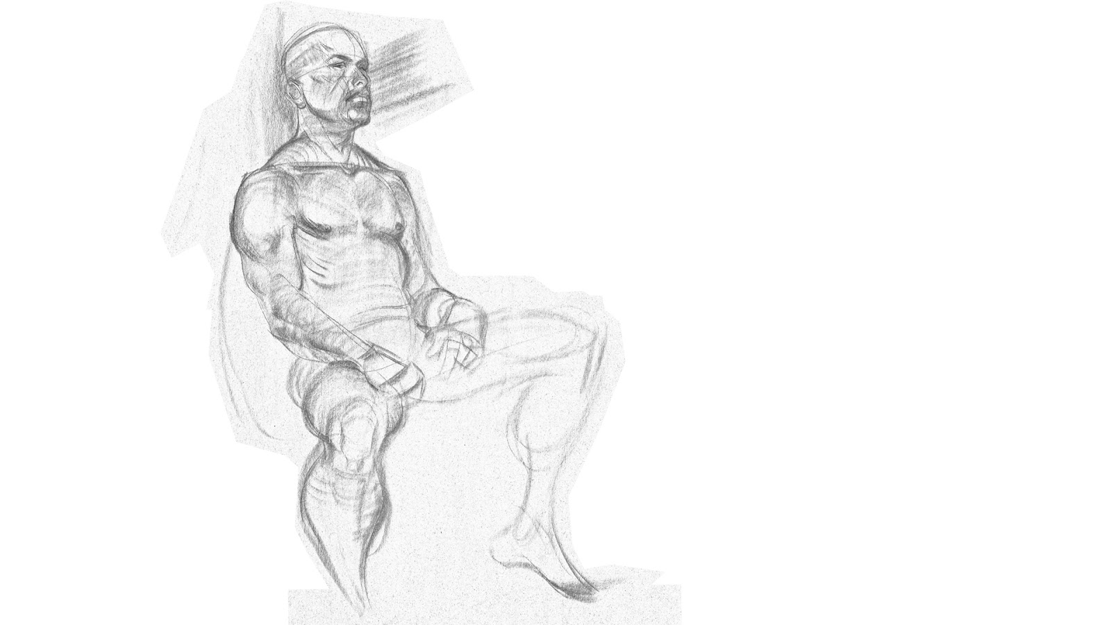 Character Design From Life Drawing : Alan life drawing character design