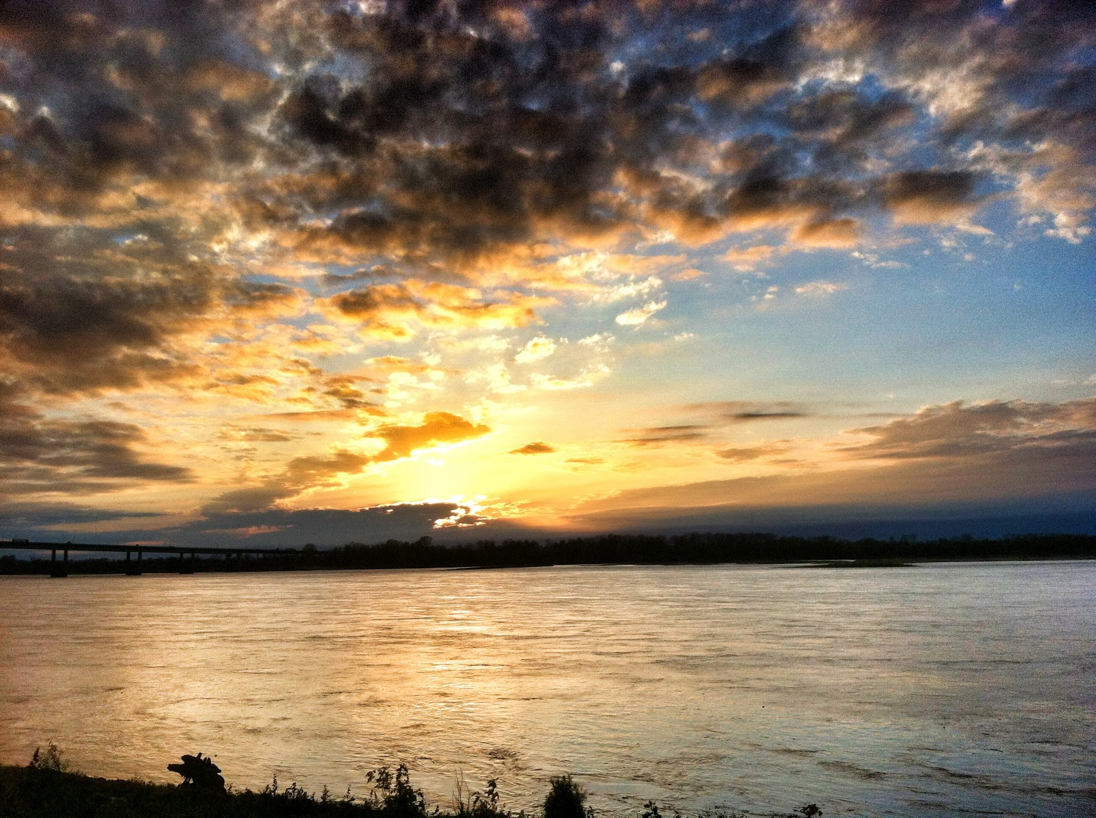 Mississippi River Sunset fotomem memphis