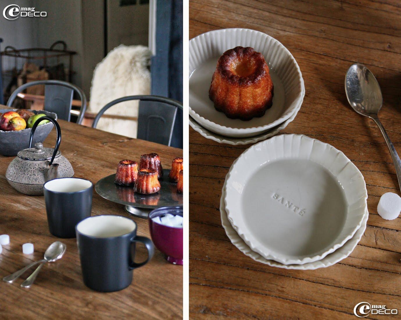 Assiettes à dessert gravées des vœux traditionnels, créations Le Petit Atelier de Paris