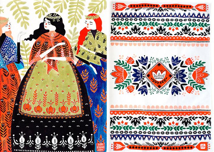 Mirdinara illustrations