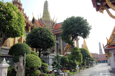 Gardens of the Grand Palace in Bangkok