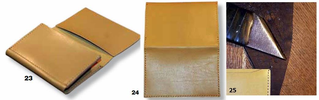 Как сшить портмоне для документов из кожи своими руками 67