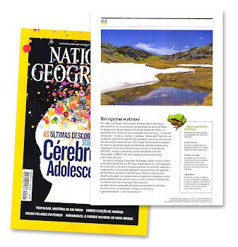 Colaboração na National Geographic de Outubro com um artigo sobre a Serra da Estrela.