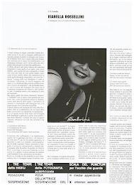 Isabella Rossellini. L'immagine-zen e il trofeo di Thorstein Veblen