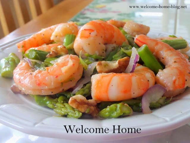Welcome Home Blog: Shrimp and Asparagus Salad