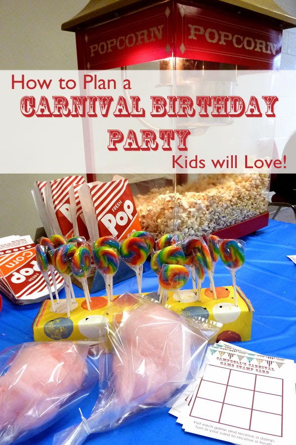 Plan a Carnival Birthday Party Kids will Love | delightinthelittlethings.com