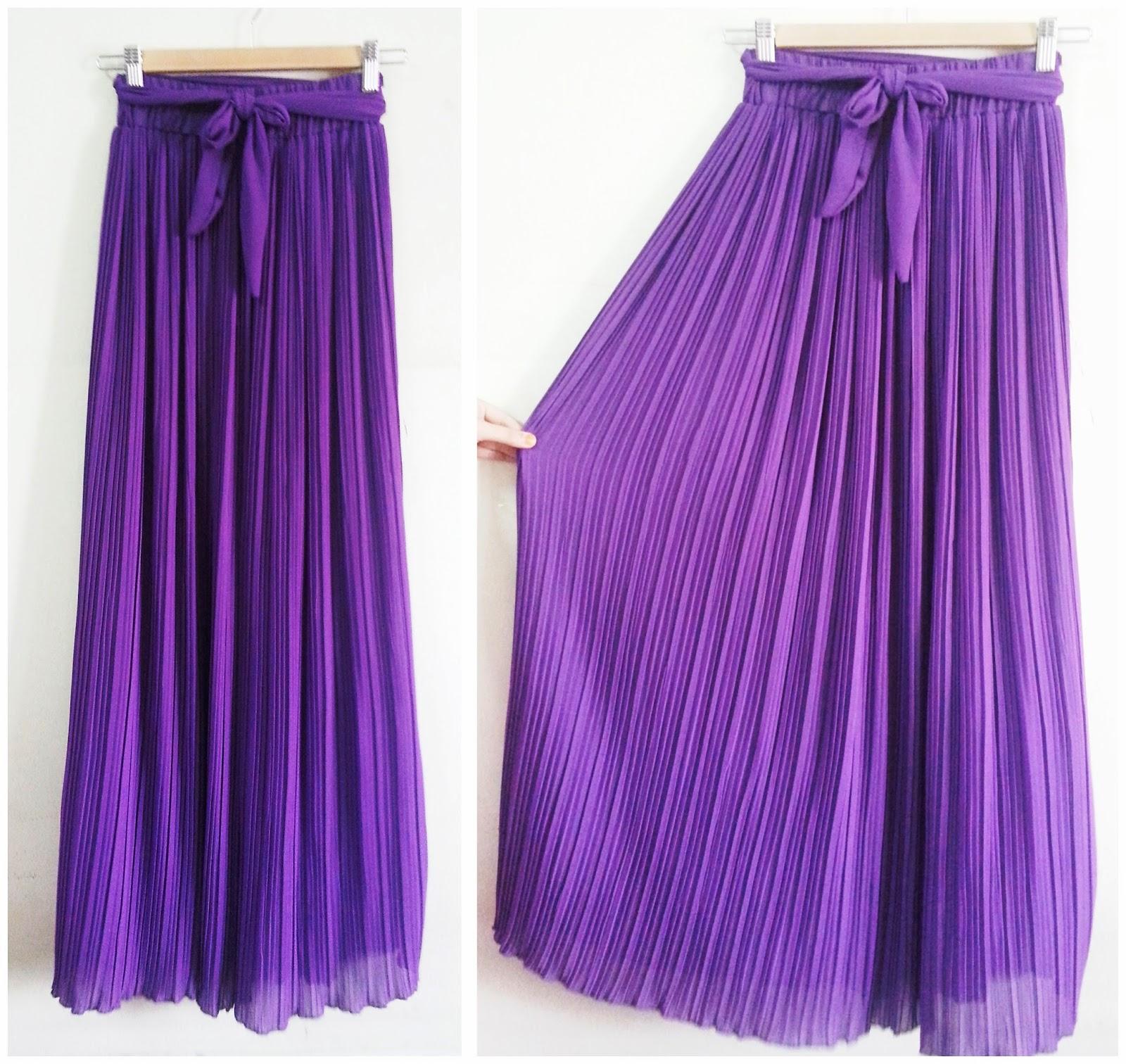 dyanhijab pleated maxi skirt