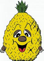 abacaxi desenho colorido