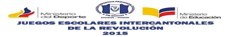 V JUEGOS ESCOLARES INTERCANTONALES DE LA REVOLUCION 2016