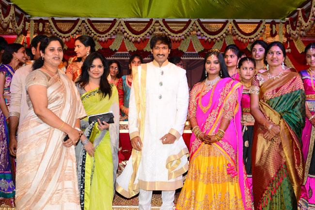 gopichand reshma marriage photos2
