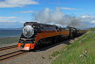 Gambar Kereta Api Lokomotif Uap Union Pacific Northern