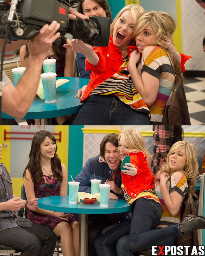 "Emma Stone: iCarly ""iFind Spencer Friends"" Stills - Outubro de 2012"