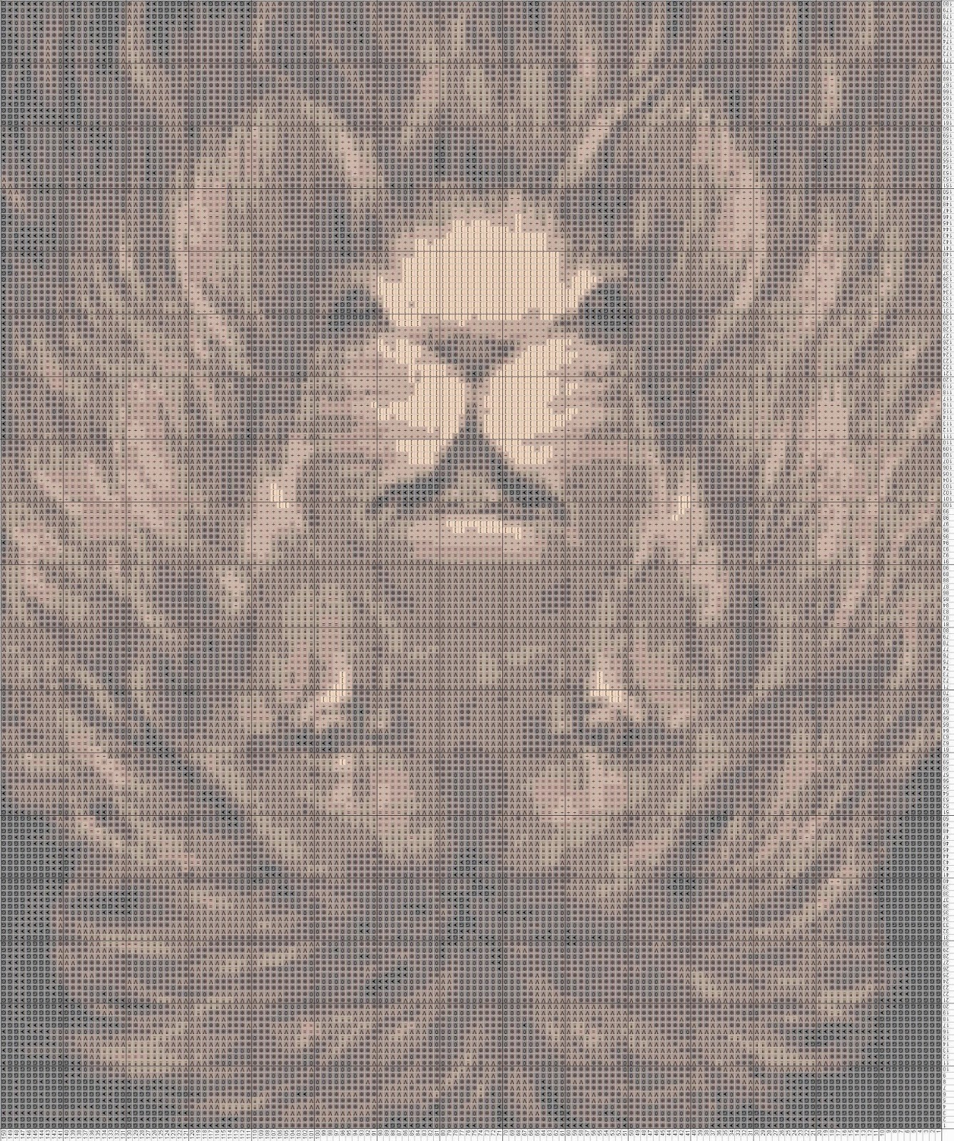 Gambar Pola Kristik - Ilusi Optik 2 - Singa atau Tikus