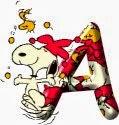 Alfabeto de Snoopy de Carnaval.