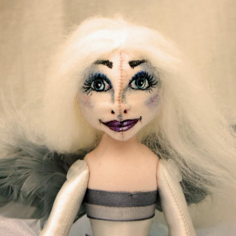 pearl small cloth art doll