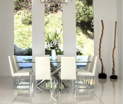 Fotos de comedores comedor de vidrio for Comedores redondos de cristal