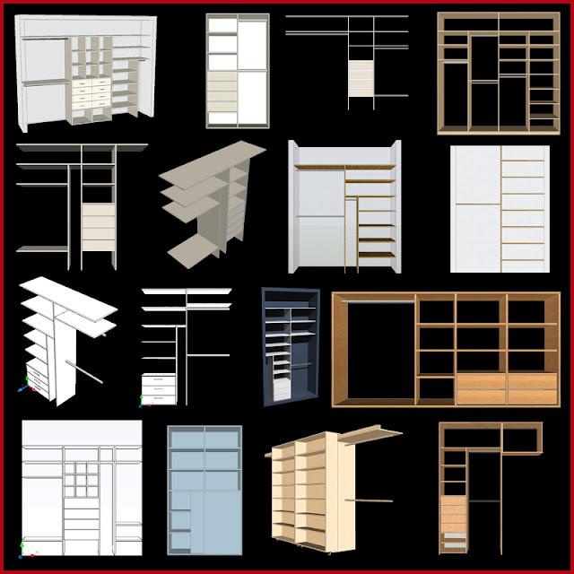 Muebles y maderas modelos de interiores de placard for Interiores de placard