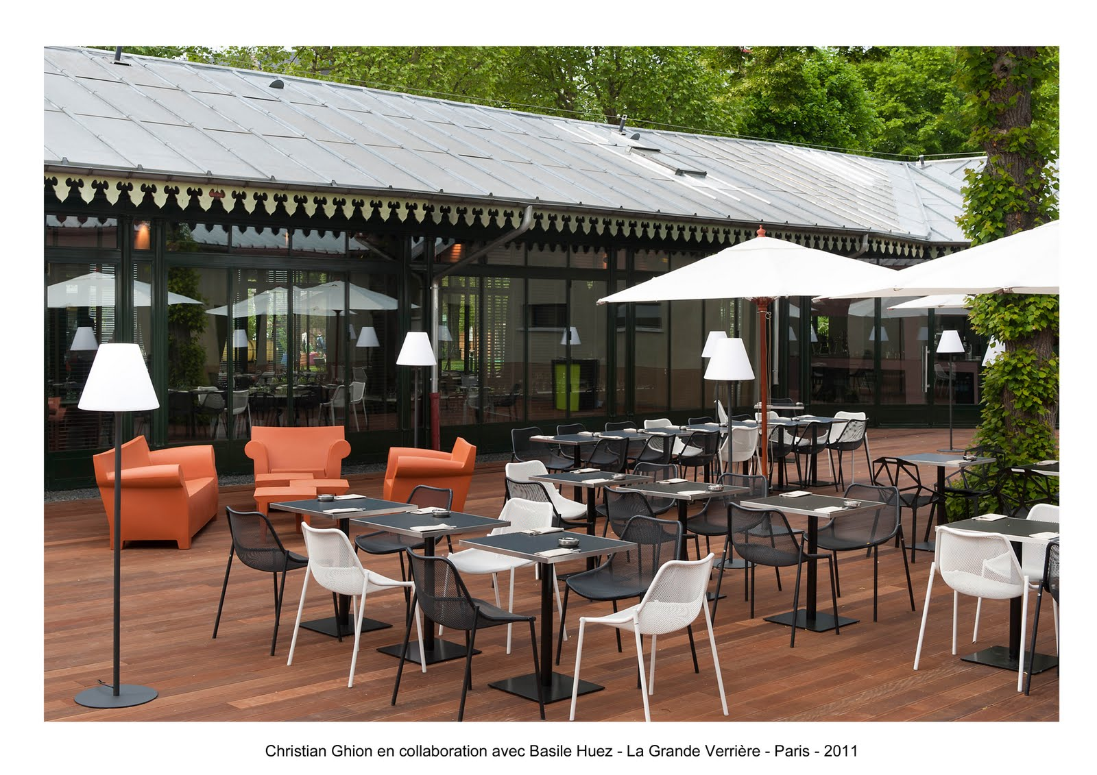 Basile huez design collaborations restaurant la grande verri re jardin d 39 acclimatation - Jardin d acclimatation restaurant ...