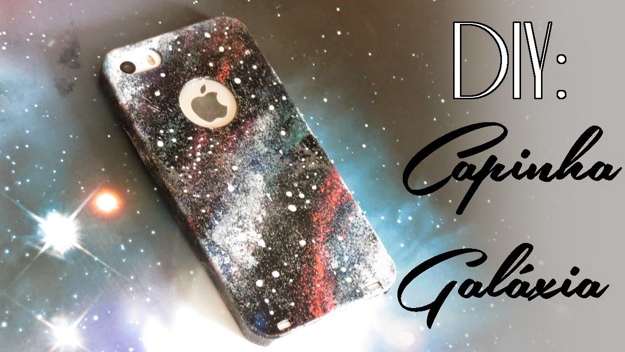 capinha de celular galáxia DIY