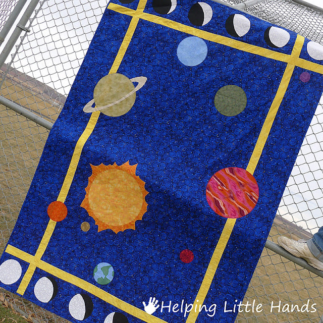 pieces by polly solar system quilt pattern included. Black Bedroom Furniture Sets. Home Design Ideas