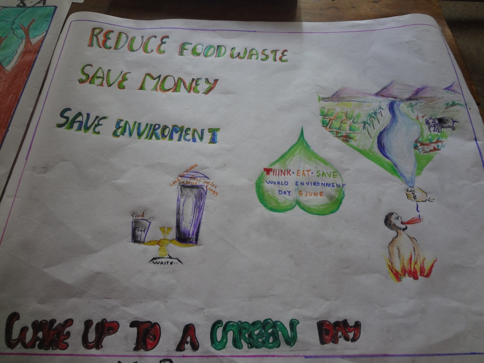 Poster design environment day - Vidyamrutham Arogyamrutham 5 06 2013 World Environment Day Observation At Ihrd Nellissery Poster Making And Seminar On Environment Protection Papers