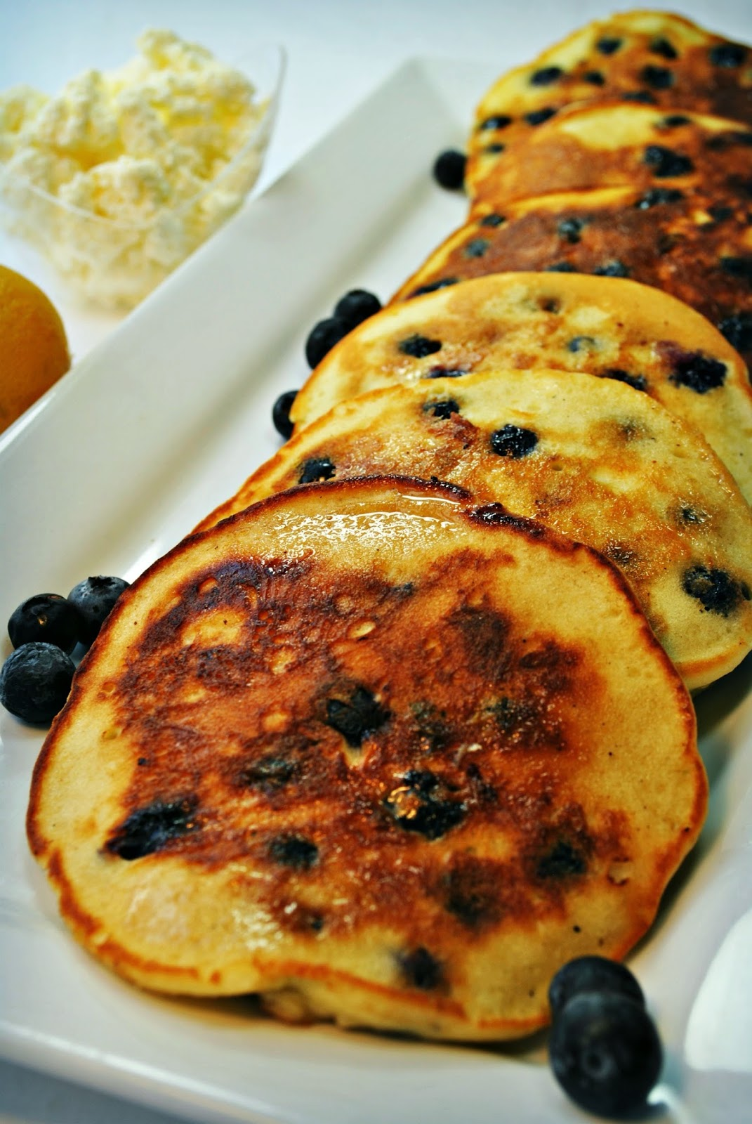 Blueberry Lemon and Ricotta Pancakes