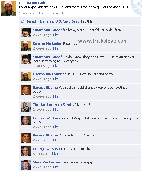 Create your own Funny FB wall