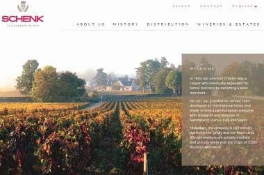 Groupe Schenk - un nouveau site internet (2014)