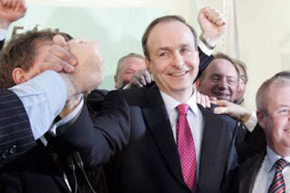 Leader of the Fianna Fail party Micheal Martin