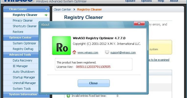 winaso registry optimizer free download