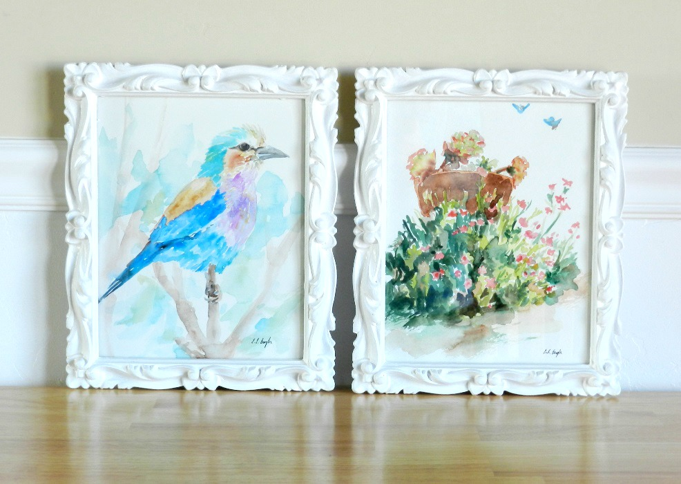 Painted White Thrift Store Picture Frames