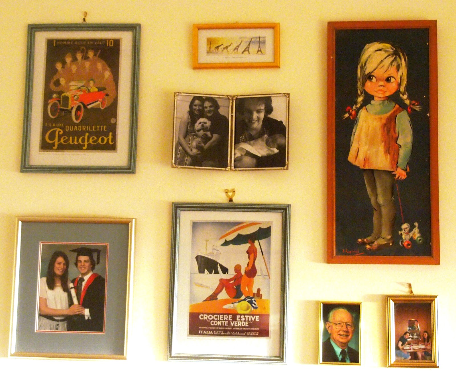 THE THRIFTY CHALLENGE: my own creative wall.