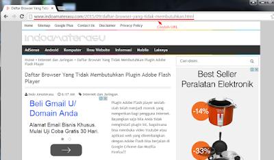 Contoh URL blog