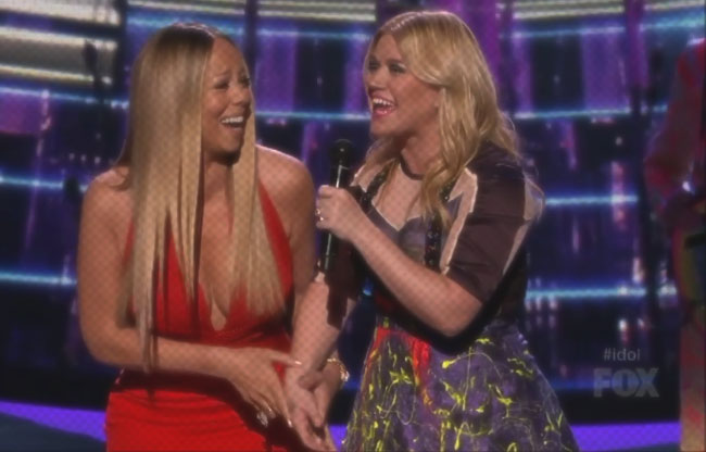 MARIAH CAREY KELLY CLARKSON IDOL 2013
