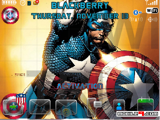 Tema BlackBerry 8520 Captain America Download Tema BlackBerry 8520 Gratis 2012