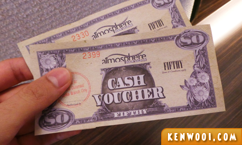 atmosphere cash voucher