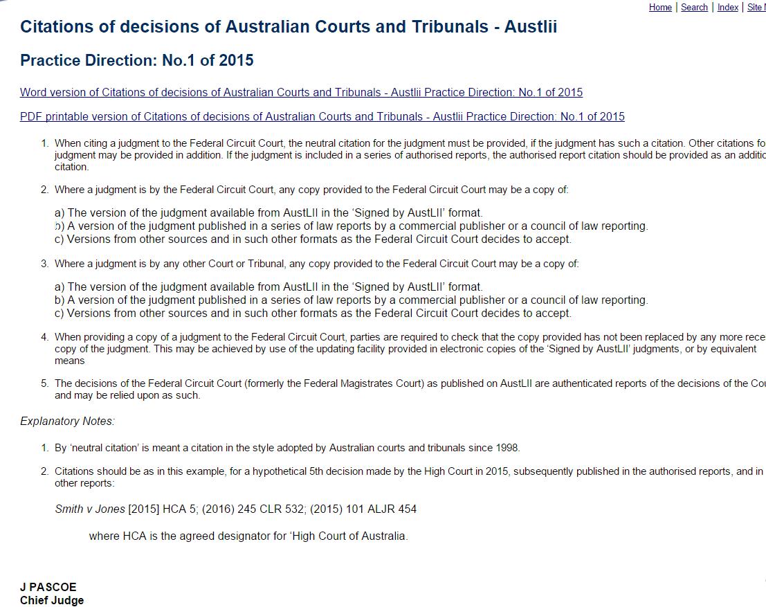 http://federalcircuitcourt.gov.au/practice/html/012015.html