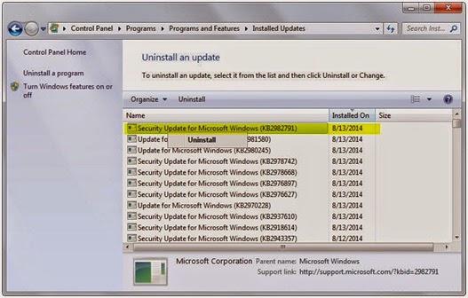 Panduan Mudah Bagaimana Cara Uninstall Windows Update Di Windows 7 Dan 8