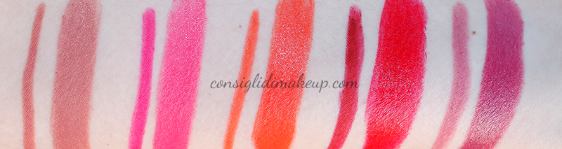 swatches rossetti artdesign collistar