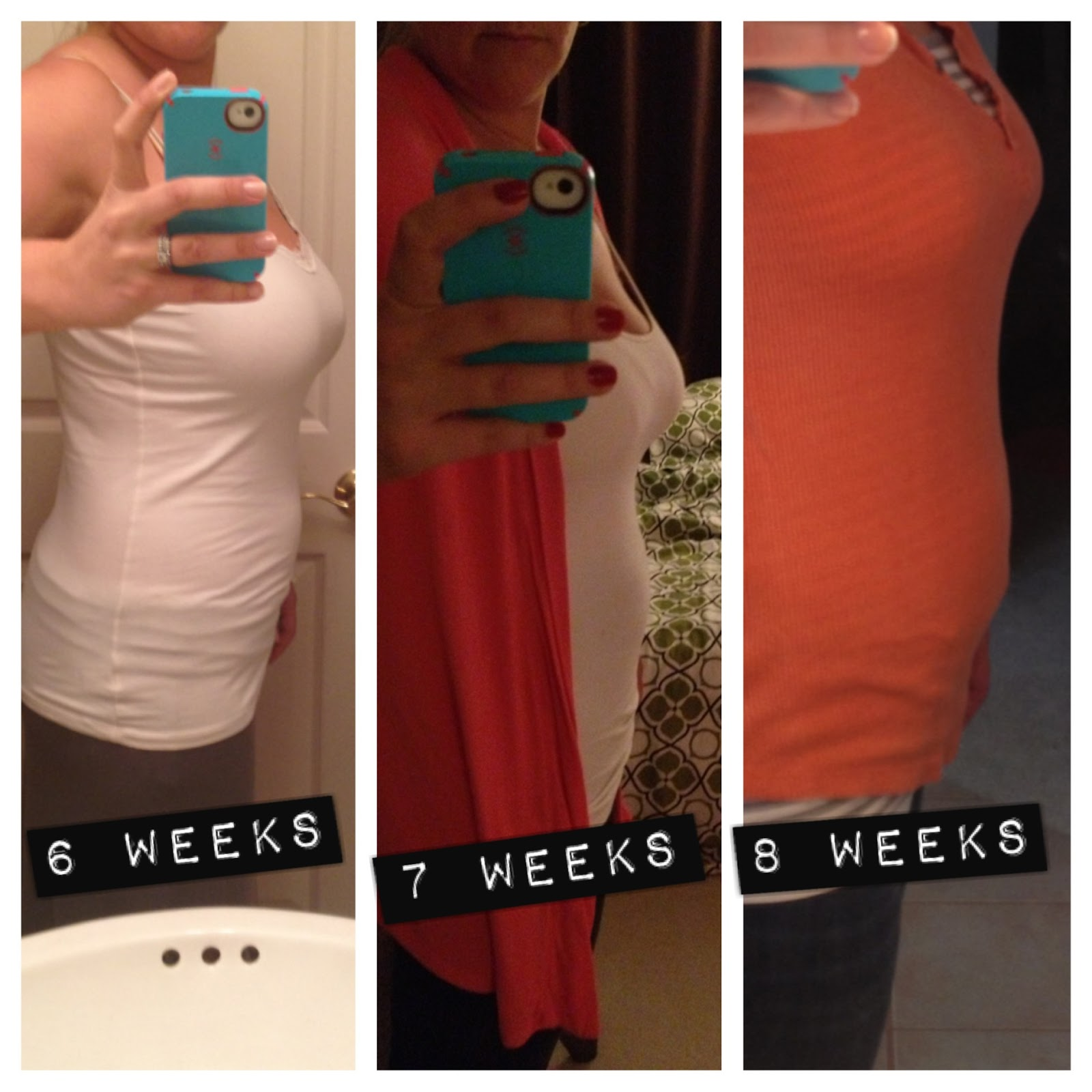 Our Fiesta of Five: 12 weeks  Early Pregnancy Stomach 3 Weeks
