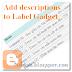 Thêm mô tả cho widget label của blogger