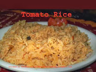 Rice made with tomato puree, healthy recipe