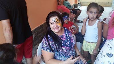 Pintura Facial Borboleta Amarela.