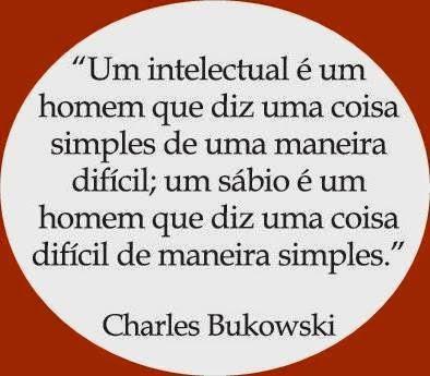 Bokowski e a diferença entre intelectual e sábio.