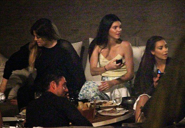 Kendall Jenner enjoys a night party with family in Thailand